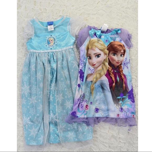 Disney Pajamas   Bundle Of Toddler Frozen Nightgowns   Poshmark